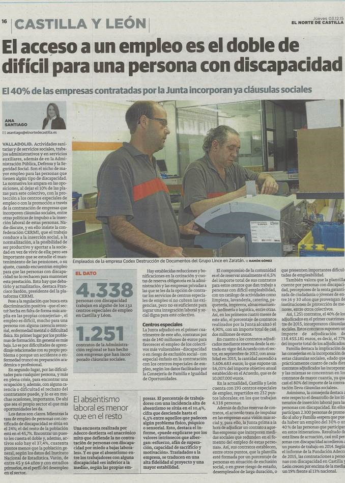 noticia  Norte de Castilla