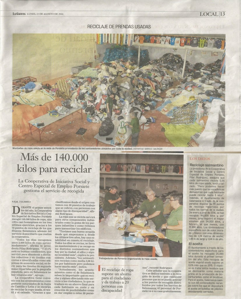 20160822 Reportaje Ropa La Gaceta de Salamanca